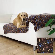 LASLO Hundedecke - braun mit Pfoten, 150 x 100 cm