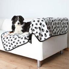 Beidseitige Hundedecke BENNY - schwarzweiß, 150 x 100 cm