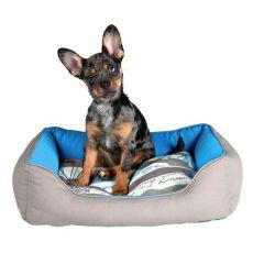 Bett für Hunde oder Katzen SAILOR, blau-grau, 80 x 65 cm