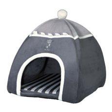 Hunde- oder Katzenbett Iglu Prince, grau - 40 x 40 x 42 cm