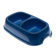 Doppelnapf für Hunde SNACK 22 - blau, 2 x 500 ml