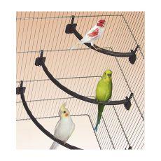 Stange für Vögel, Kunststoff, braun - 1,2 x 27 cm