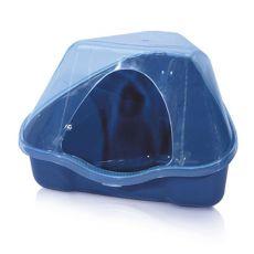 Eckige Toilette mit dem Deckel NORA 3C blau - 50 x 34 x 32 cm