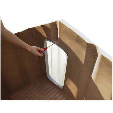 Kunststofftür Porta 4 für Hundehütte - 50 x 27,5 cm