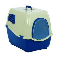 Toilette für Katzen BILL 1F, blau - 40 x 50 x 42 cm
