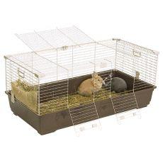Käfig für Nager TOMMY 120 K, braun - 120x58x51cm
