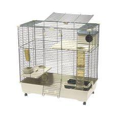 Käfig für Nager SARA 102 C2, beige - 102 x 53 x 104 cm