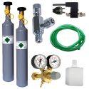 CO2 profesional Set mit elektromagnetischem Ventil, Ersatzflasche, Flasche 500g