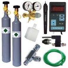 CO2 profesional Set + Ersatzflasche 500g + pH Controller