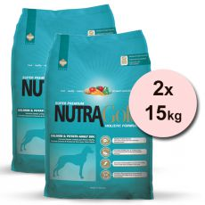 NUTRA GOLD HOLISTIC Salmon and Potato Adult Dog 2 x 15 kg