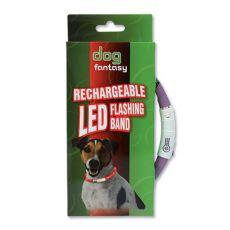 LED Hundehalsband DOG FANTASY - violet, 45 cm