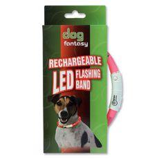 LED Hundehalsband DOG FANTASY - pink, 70 cm