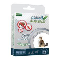 MAX BIOCIDE Antiparasiten-Halsband für Katzen - 42 cm